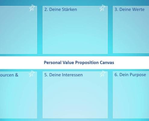 Deine Personal Value Proposition ist das Herzstück deiner Karriereplanung und mit dieser Canvas kannst du sie Schritt für Schritt entwickeln
